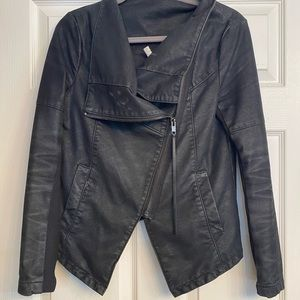 Leather/fabric jacket